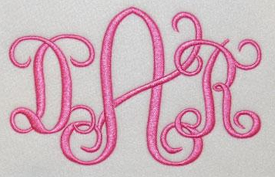 Interlocking vine embroidery font