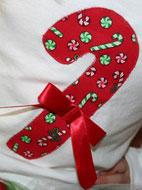 Candy Cane applique for embroidery
